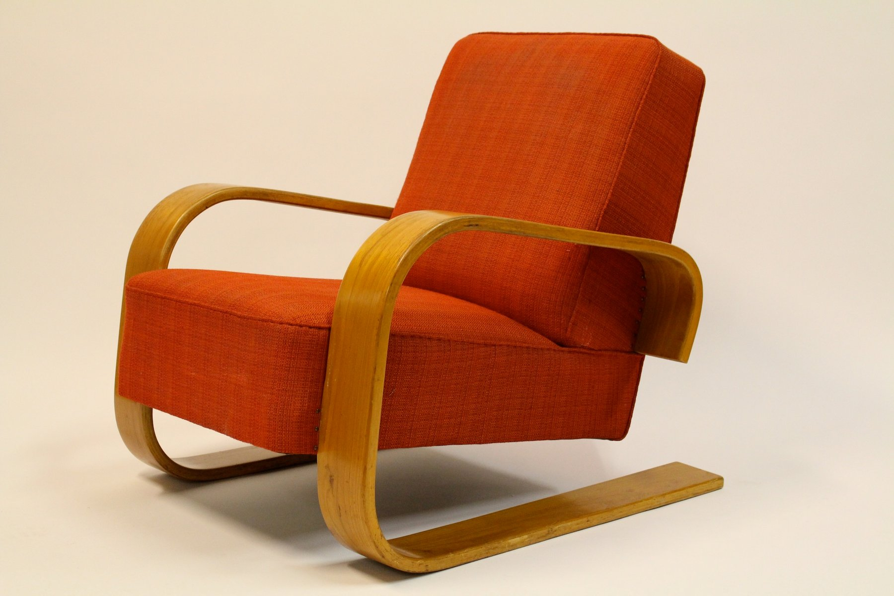 Model 400 tank chair by alvar aalto for artek 1950s for for Alvar aalto chaise