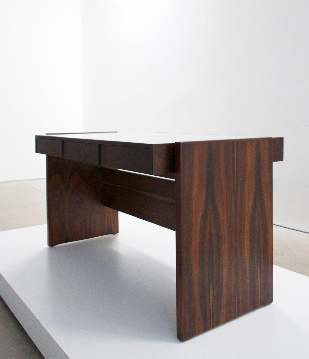 schreibtisch aus palisander mit wei er glasplatte von joaquim tenreiro 1960er bei pamono kaufen. Black Bedroom Furniture Sets. Home Design Ideas
