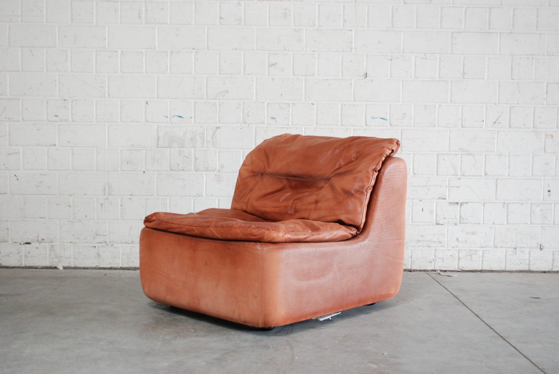 modulares plus ledersofa von friedrich hill f r walter knoll bei pamono kaufen. Black Bedroom Furniture Sets. Home Design Ideas