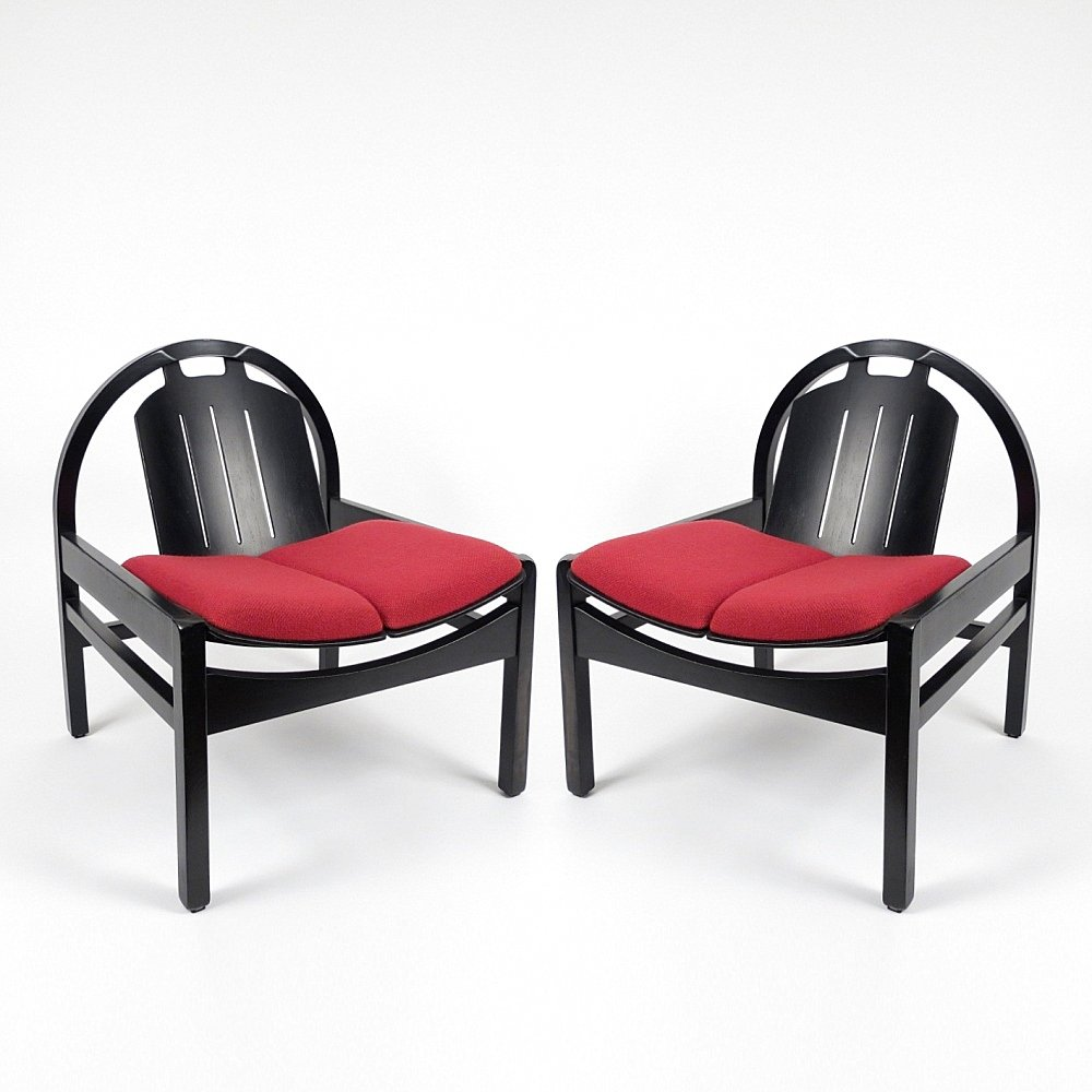 1980s Furniture vintage french lounge chairs from baumann, 1980s, set of 2 for