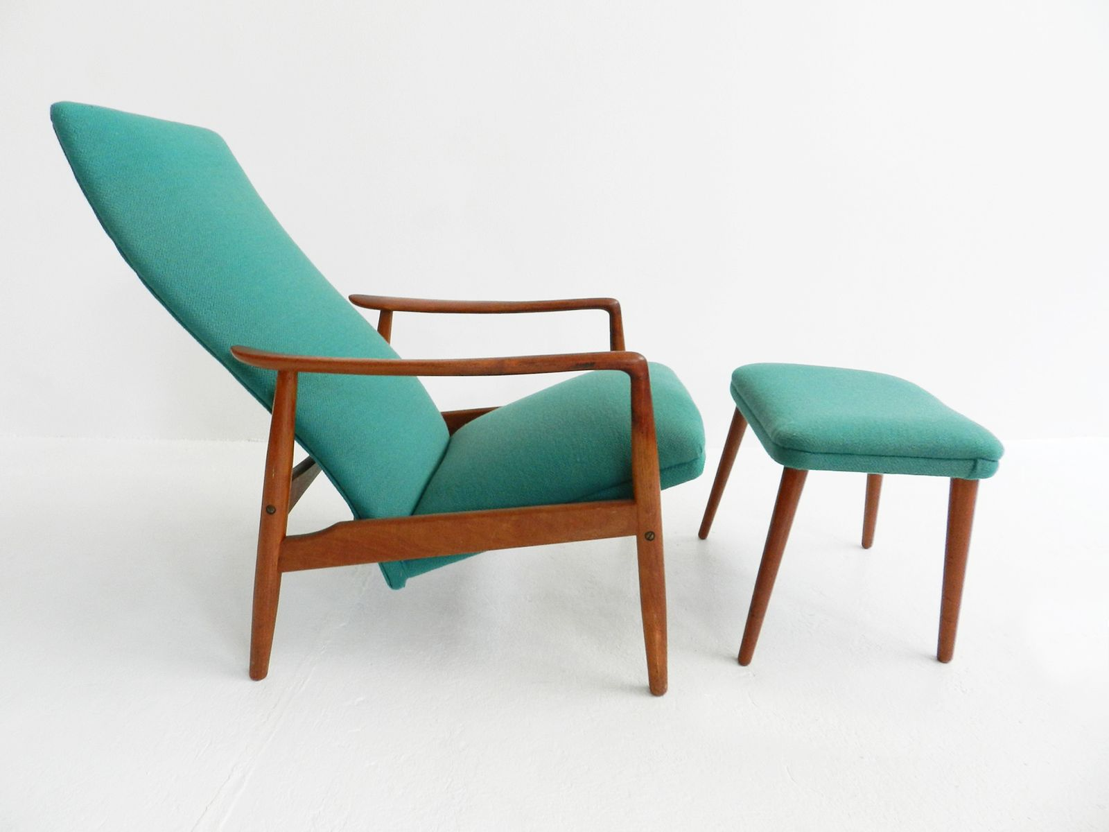 Danish Lounge Chair and Ottoman by Soren Ladefoged 1960s for sale