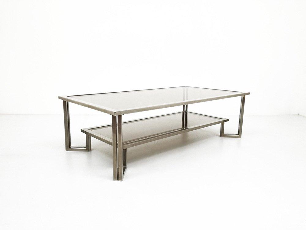 Vintage Chrome Smoked Glass Coffee Table 1970s For Sale At Pamono