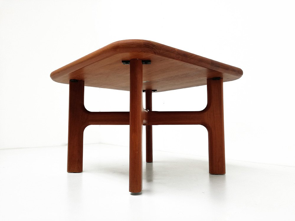 Danish solid teak coffee table from arrebo for sale at pamono Solid teak coffee table