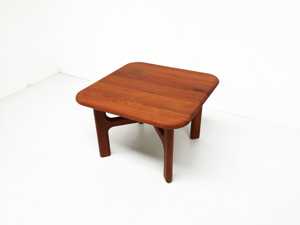 Danish Solid Teak Coffee Table From Arrebo For Sale At Pamono