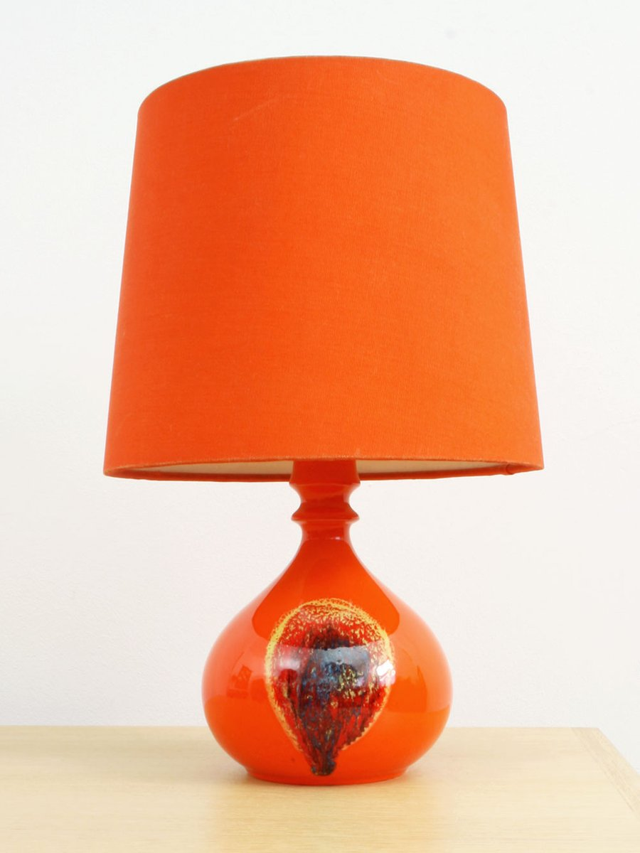 German orange ceramic table lamp by bjrn wiinblad for rosenthal german orange ceramic table lamp by bjrn wiinblad for rosenthal studio line 1970s geotapseo Image collections