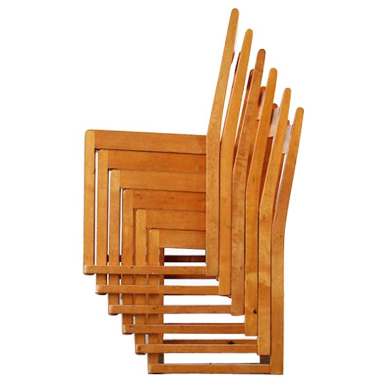Stackable Beech Chairs By Sven Markelius For Bodafors, 1931, Set Of 6