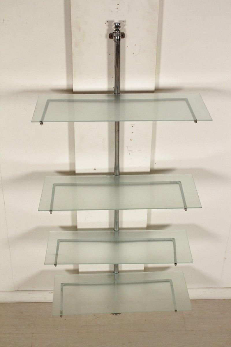 italienisches verstellbares vintage glas b cherregal 1950er bei pamono kaufen. Black Bedroom Furniture Sets. Home Design Ideas