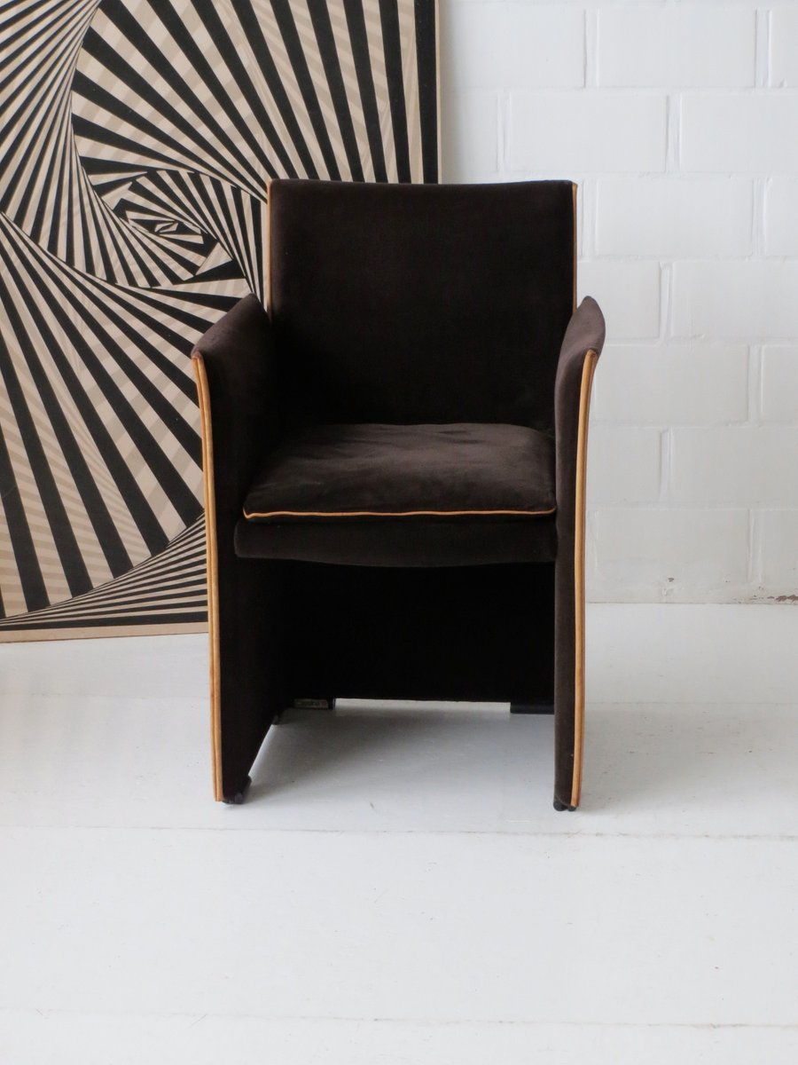 Brown Velour and Leather 401 Break Chair by Mario Bellini for – Mario Bellini Chair