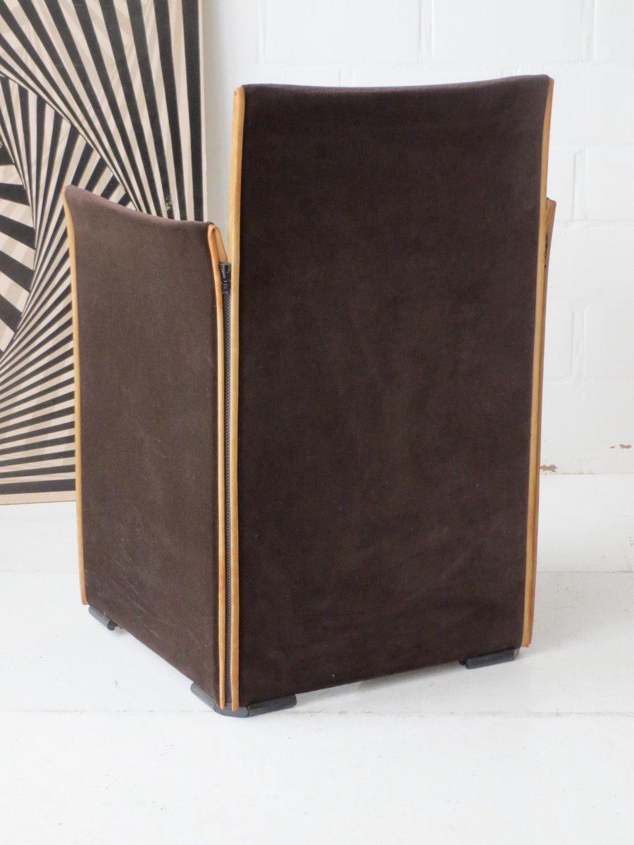 chaise 401en velours et en cuir par mario bellini pour cassina 1970s en vente sur pamono. Black Bedroom Furniture Sets. Home Design Ideas