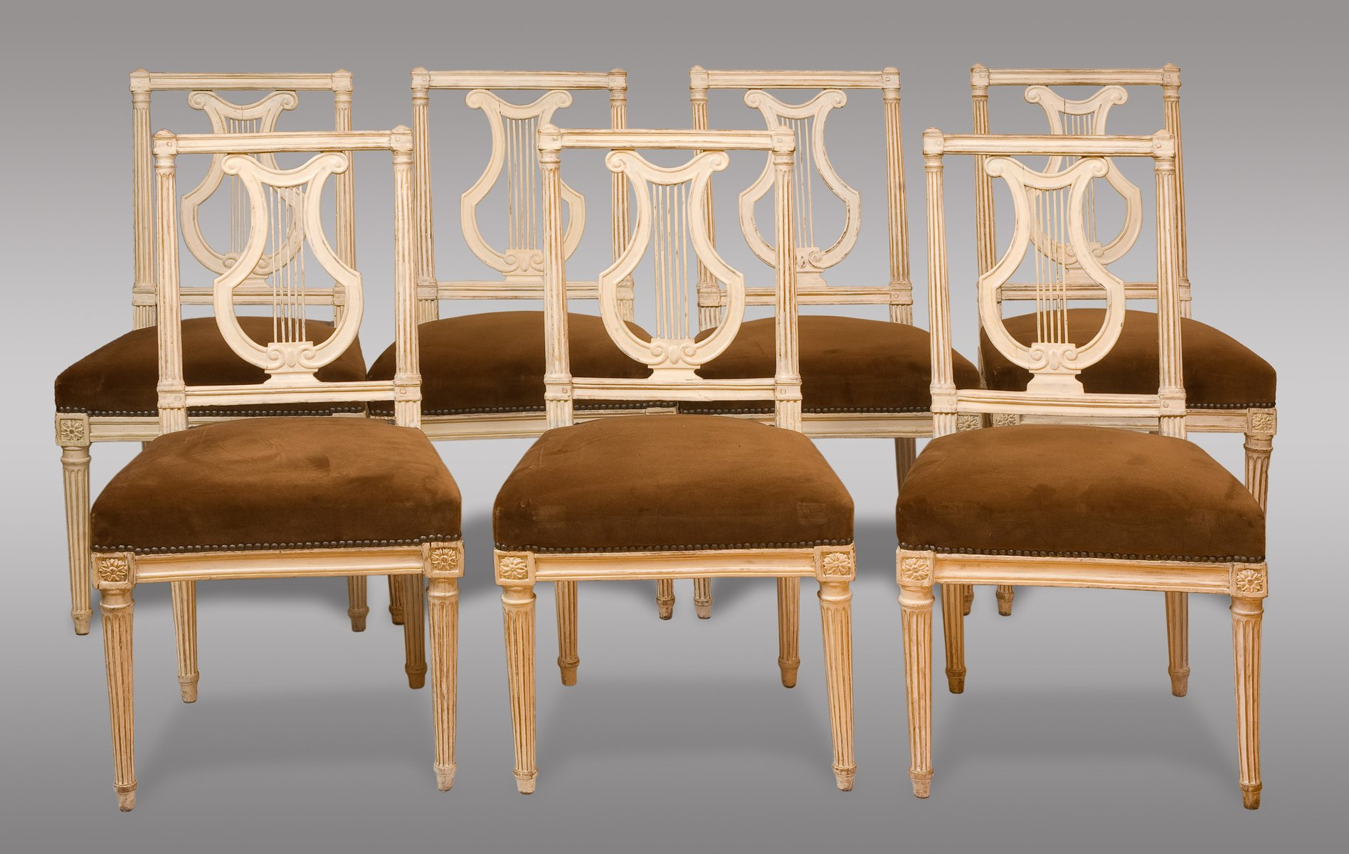 Antique Louis XVI Period Chairs, 1790, Set Of 8