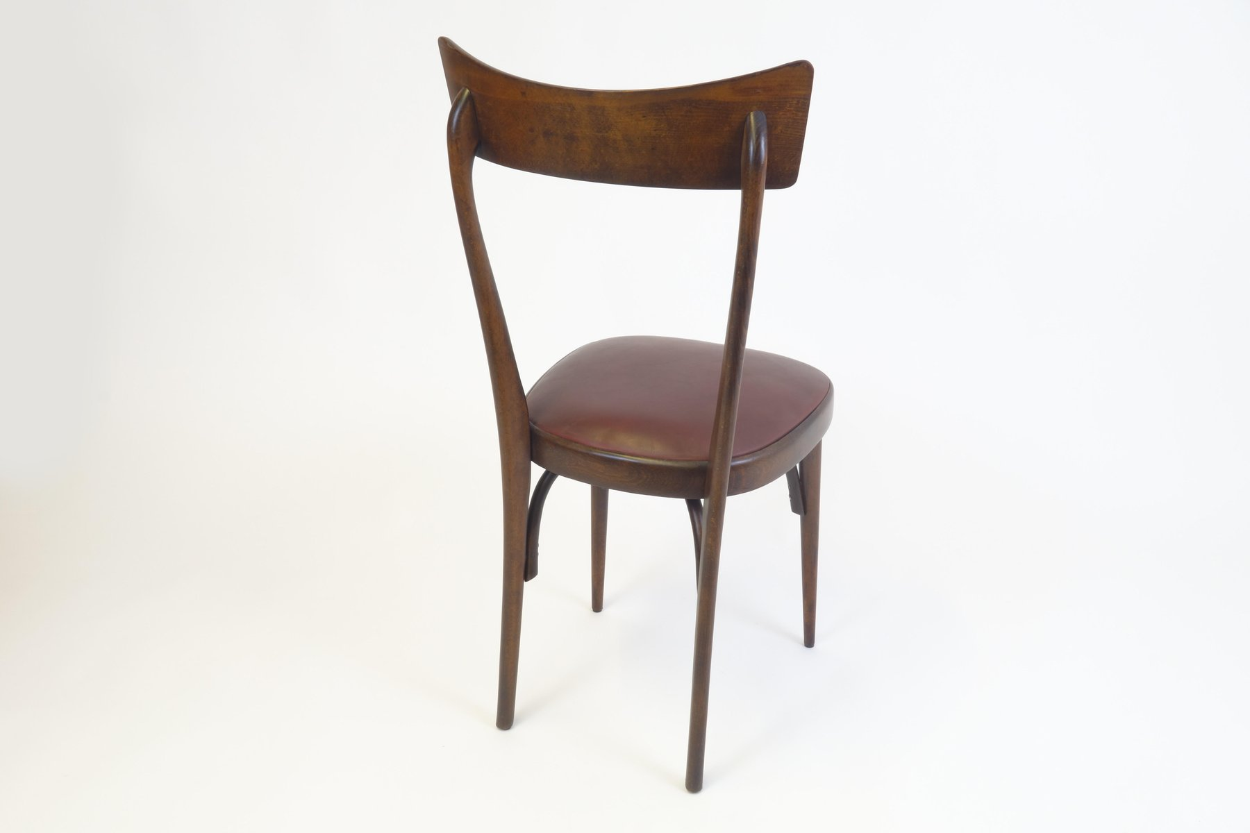Mid Century Italian Mahogany Dining Chairs Set of 4 for sale at