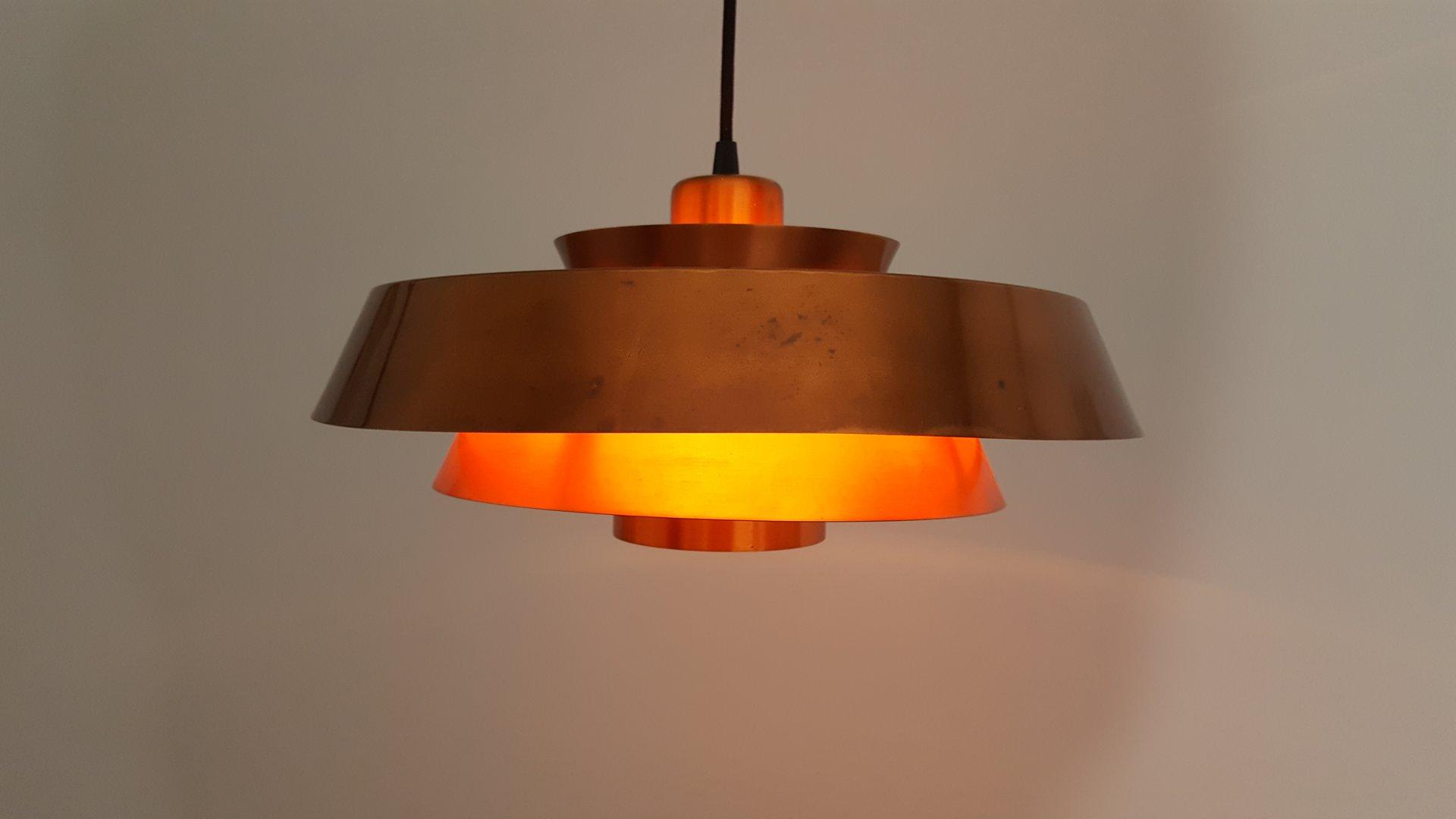 nova kupfer h ngeleuchte von jo hammerborg f r fog m rup. Black Bedroom Furniture Sets. Home Design Ideas