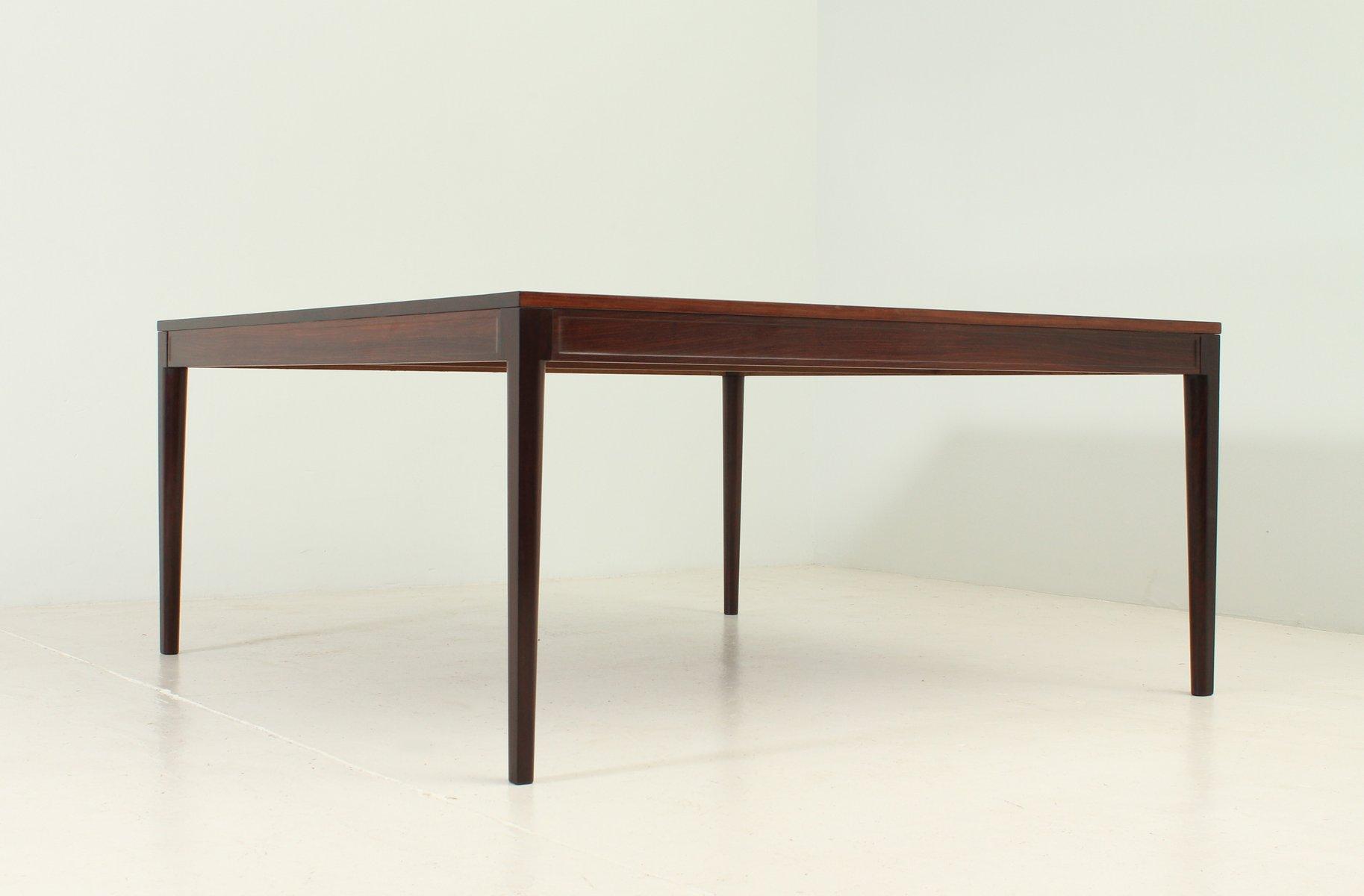 quadratischer diplomat esstisch aus palisander von finn. Black Bedroom Furniture Sets. Home Design Ideas