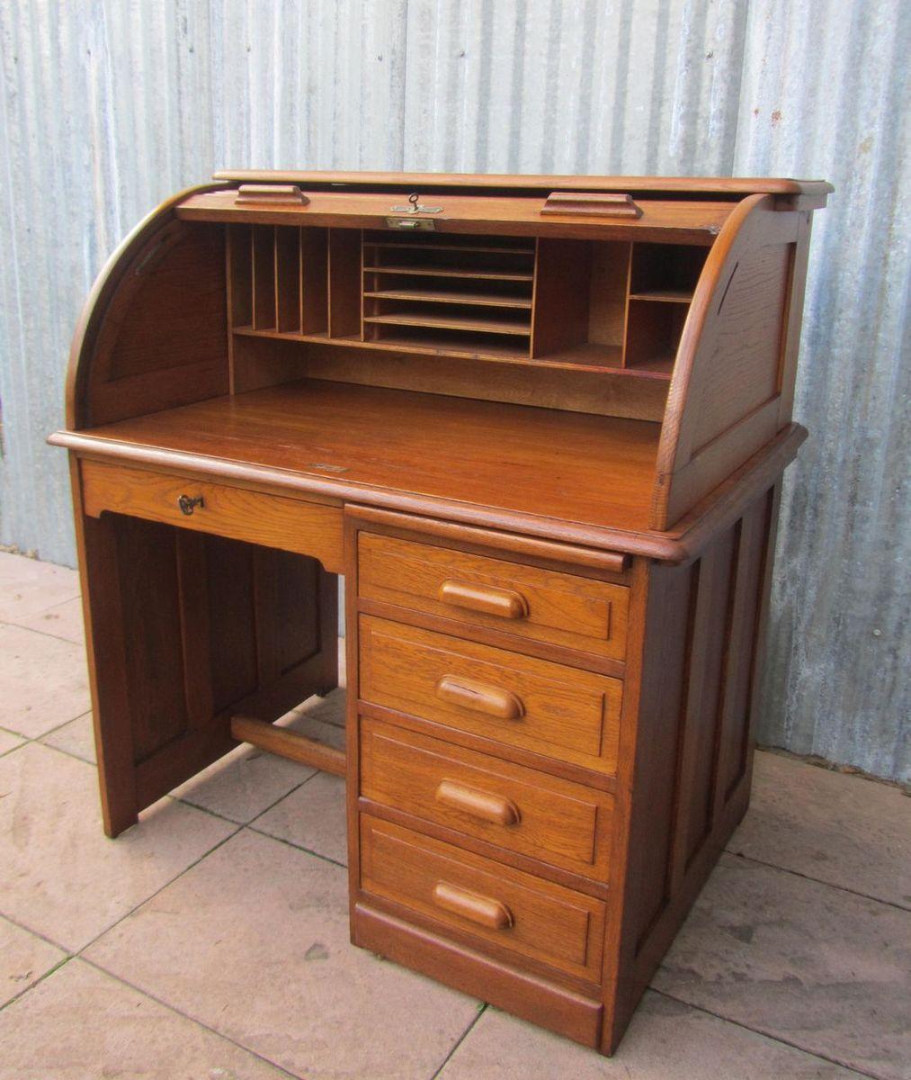 Oak Express Roll Top Computer Desk Hostgarcia