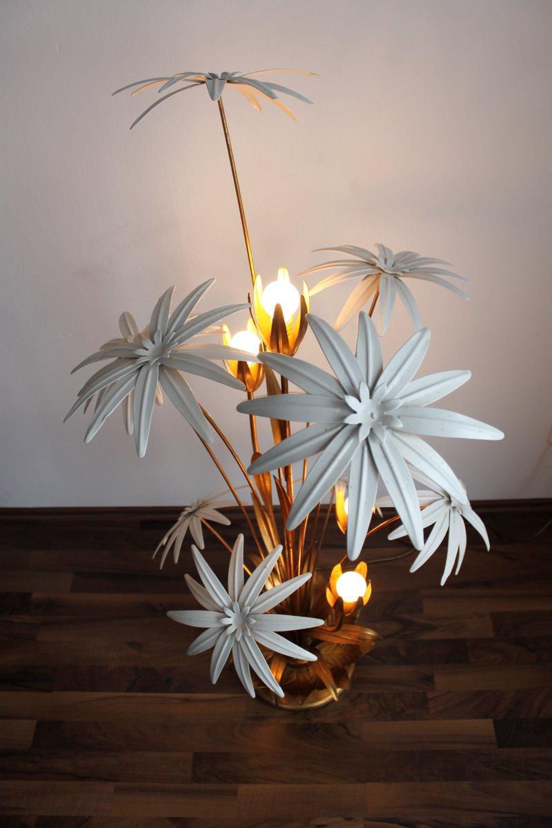 Metall blumen stehlampe 1960er bei pamono kaufen for Blumen aus rostigem metall