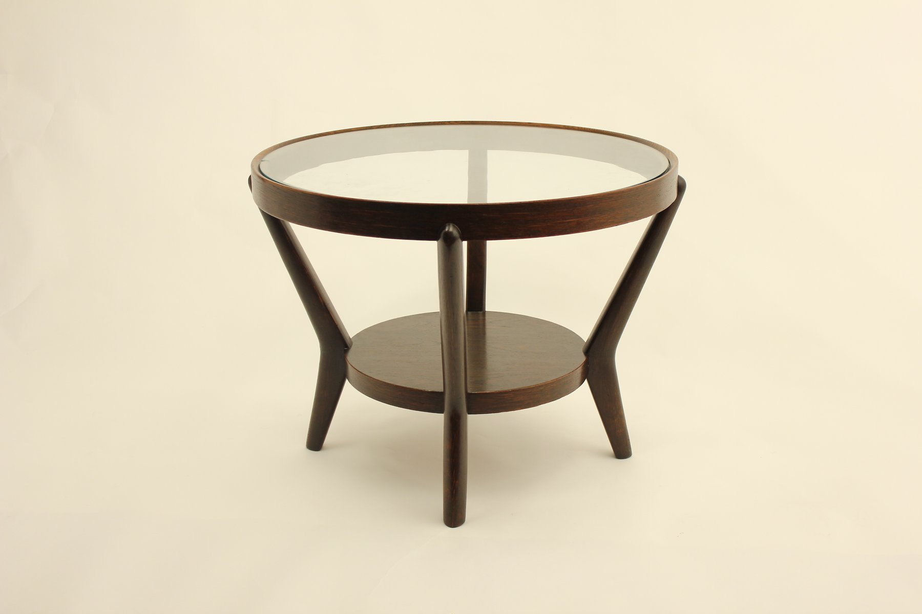 Round Function Tables Mid Century Functionalist Round Coffee Table By K Ko 3 4 Elka A