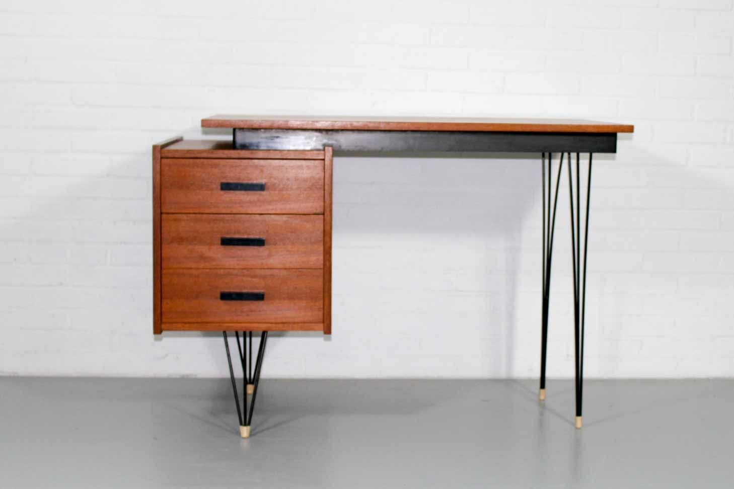 Desk with Hairpin Legs by Cees Braakman for Pastoe 1950s