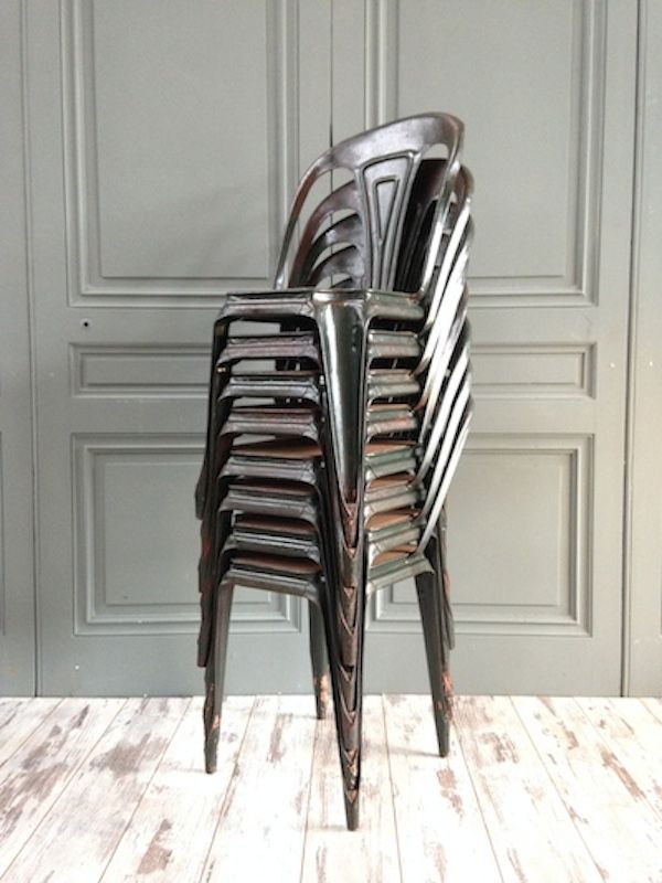 french bistro chairs by joseph mathieu for 1940s set of 4