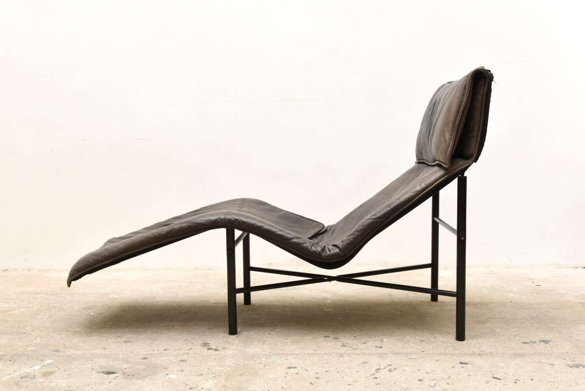Leather chaise lounge by gerard van den berg 1979 for for Chaise leather lounges
