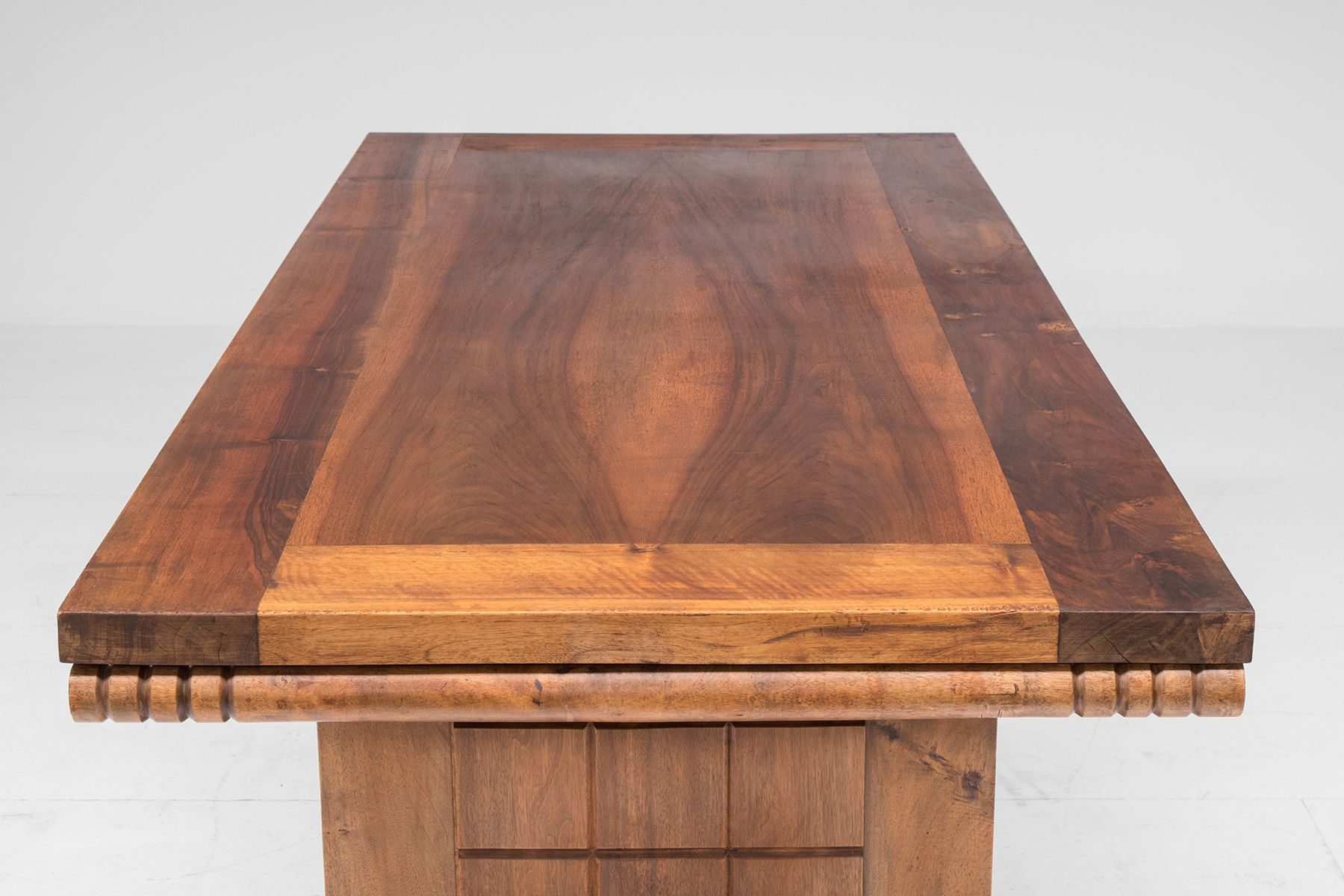 vintage french art deco walnut dining table 1930s for sale a