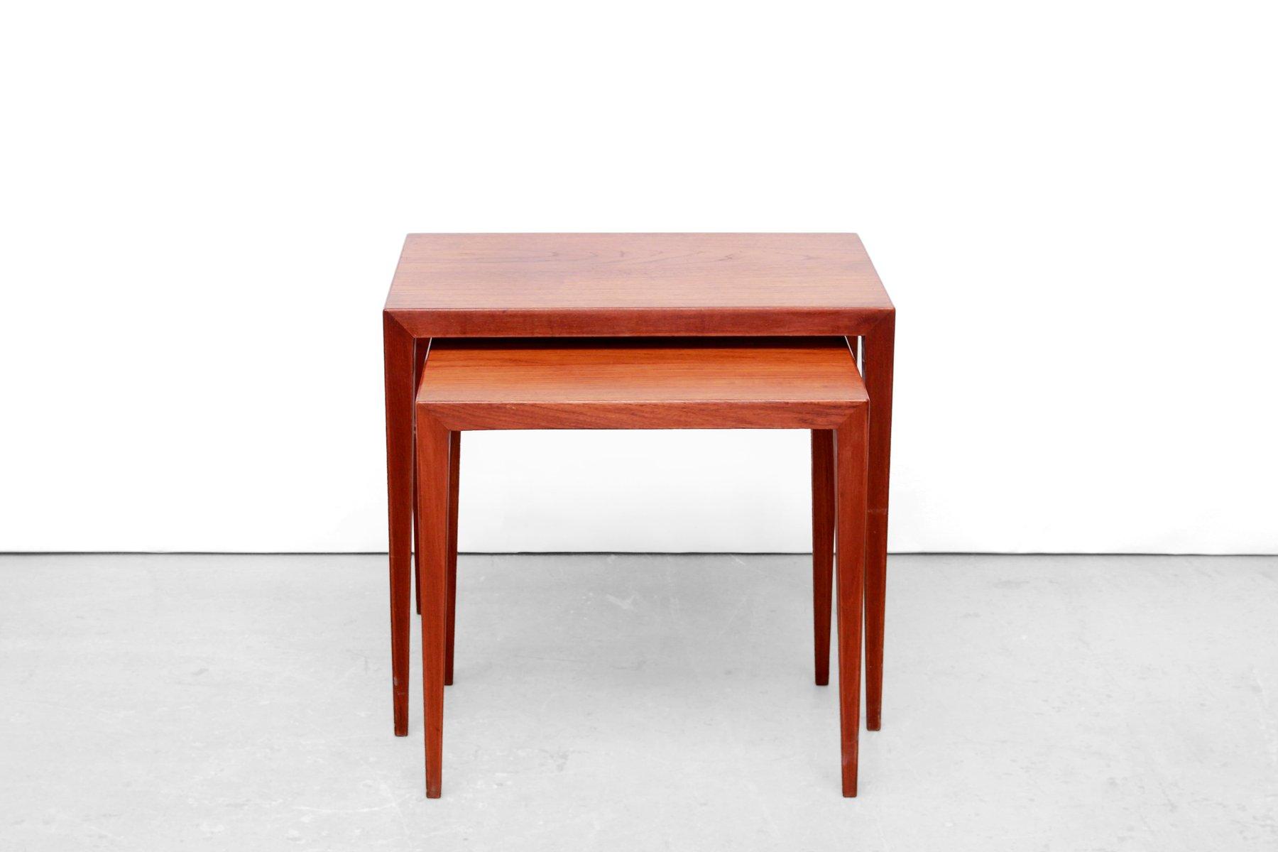 moderne d nische teakholz beistelltische von severin. Black Bedroom Furniture Sets. Home Design Ideas