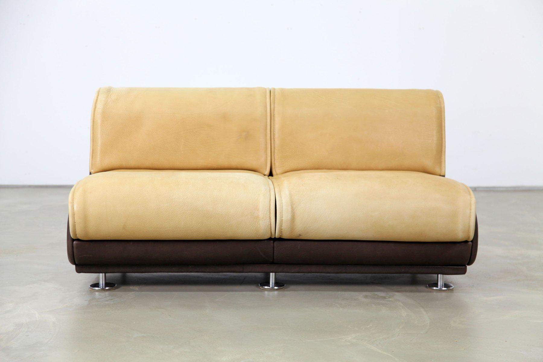 zwei sitzer sofa aus nackenleder von de sede 1970er bei pamono kaufen. Black Bedroom Furniture Sets. Home Design Ideas