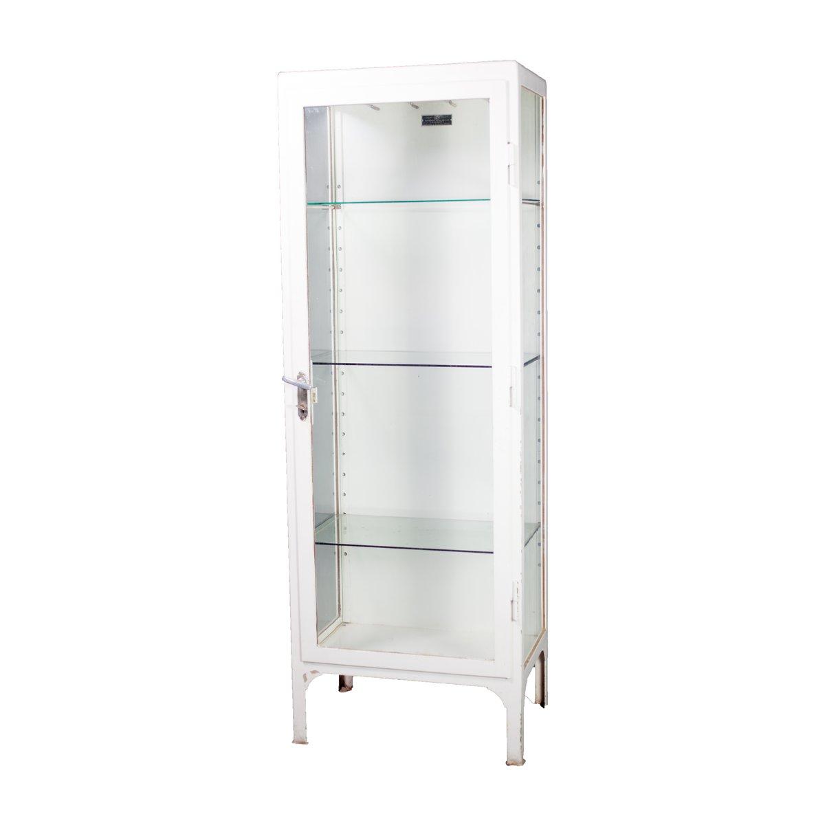 White Metal Polish Medical Cabinet, 1950