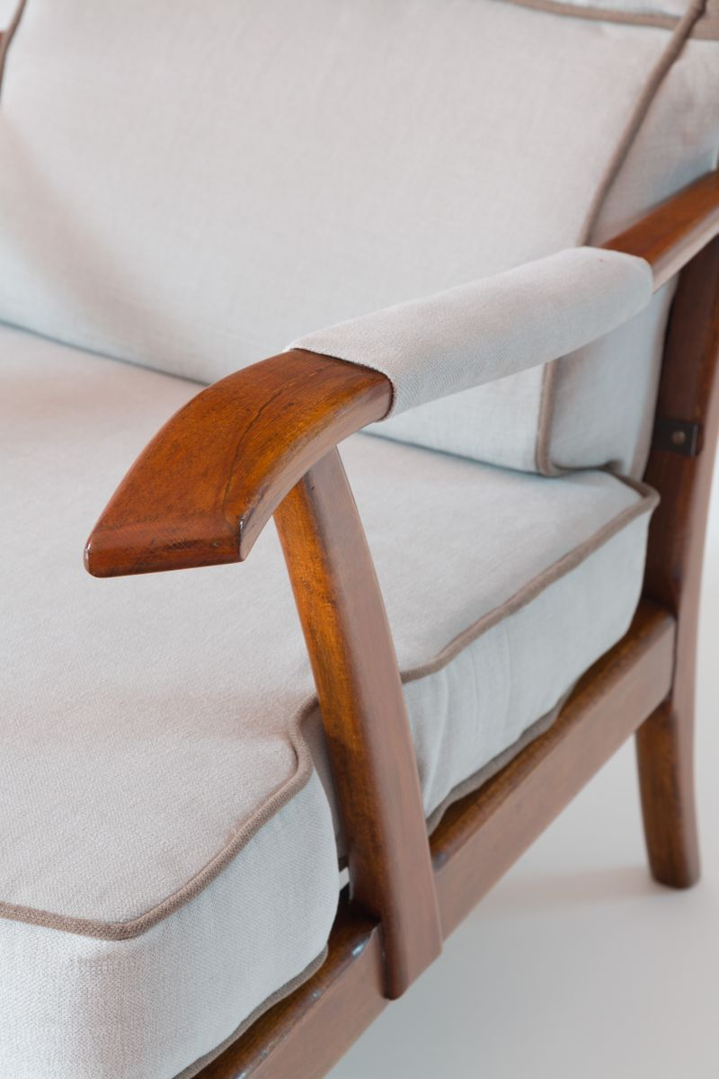 Reclining Wingback Armchairs By Paolo Buffa 1940 Set Of