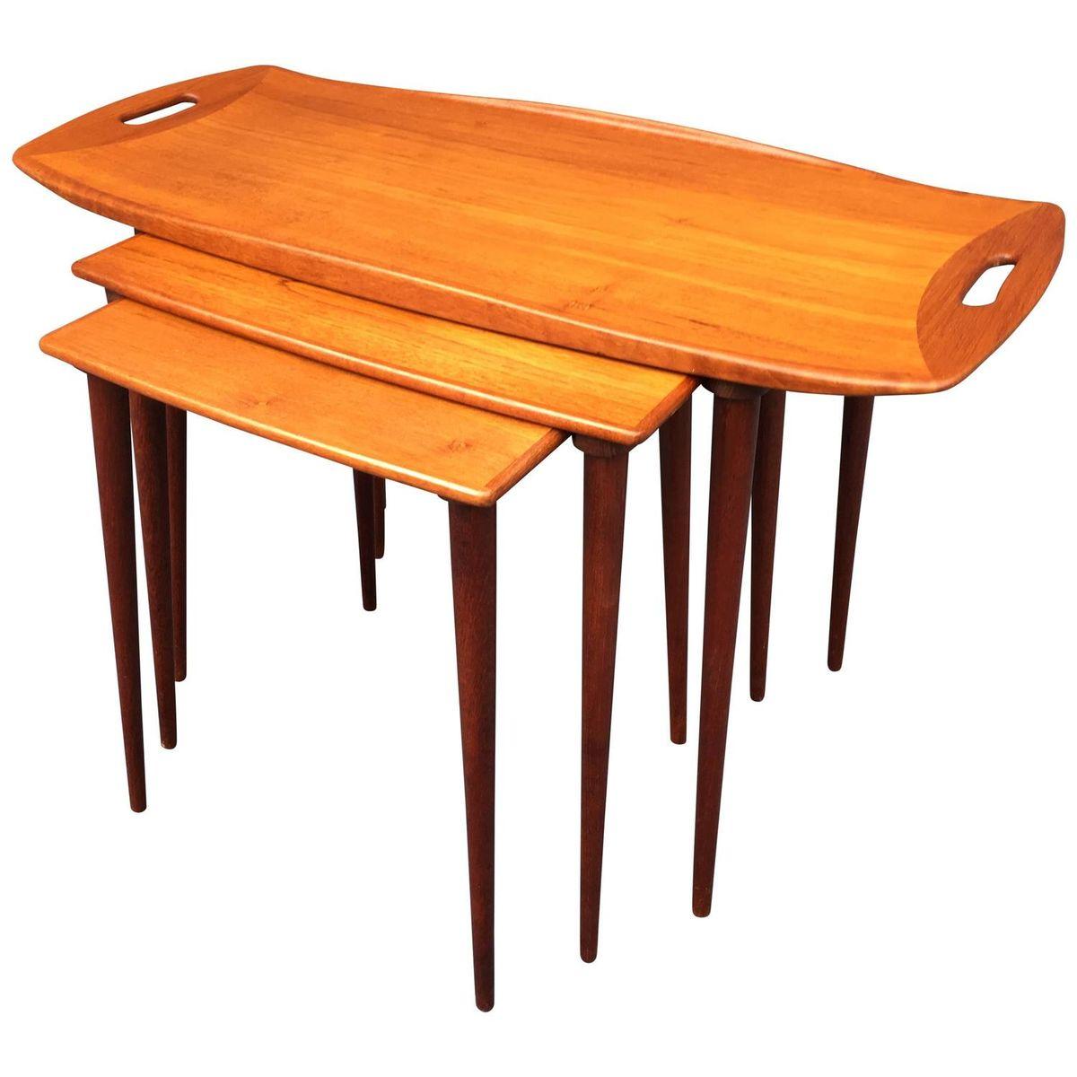 teak satztische von jens quistgaard 1960er bei pamono kaufen. Black Bedroom Furniture Sets. Home Design Ideas