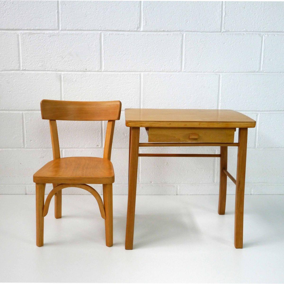 vintage kinder schreibtisch stuhl set von baumann bei pamono kaufen. Black Bedroom Furniture Sets. Home Design Ideas