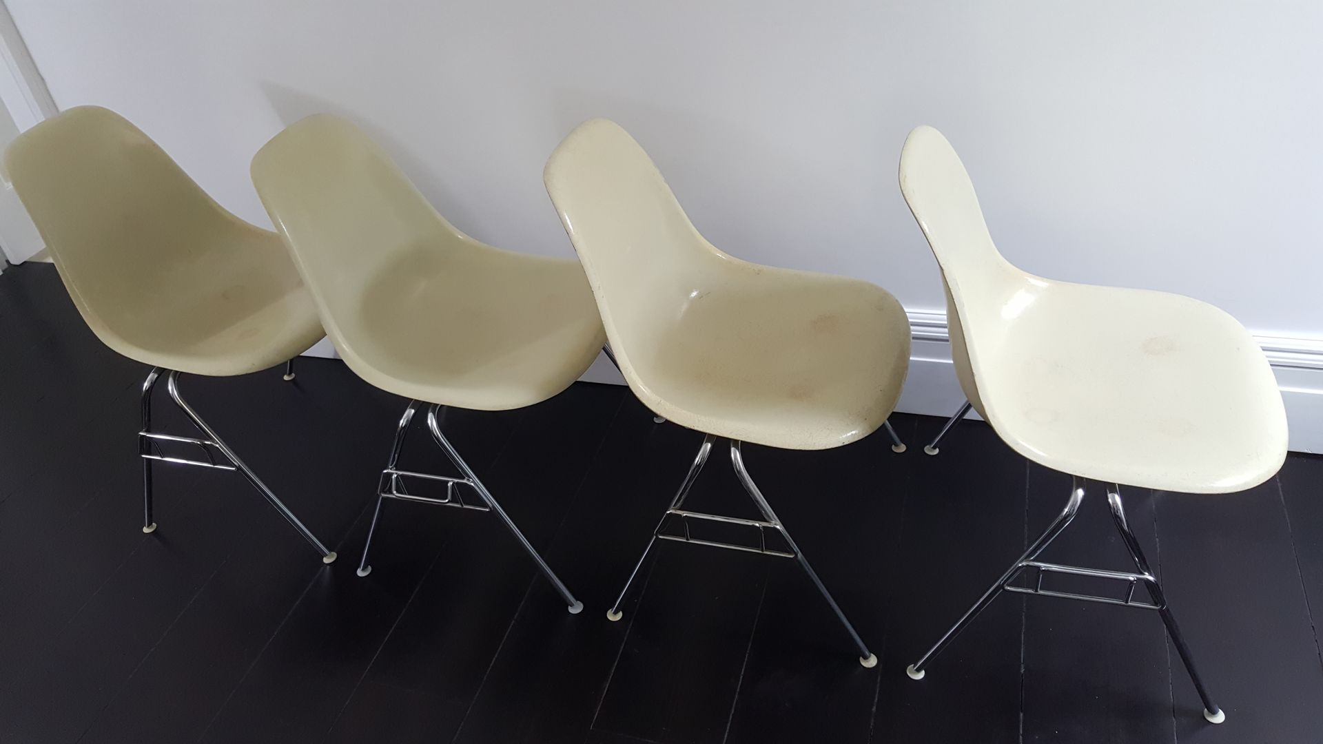 Mid Century DSS Fiberglass Shell Chairs by Charles & Ray Eames for