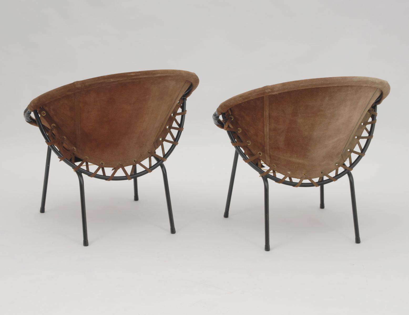 deutsche vintage wildleder st hle von lusch 1960er bei pamono kaufen. Black Bedroom Furniture Sets. Home Design Ideas