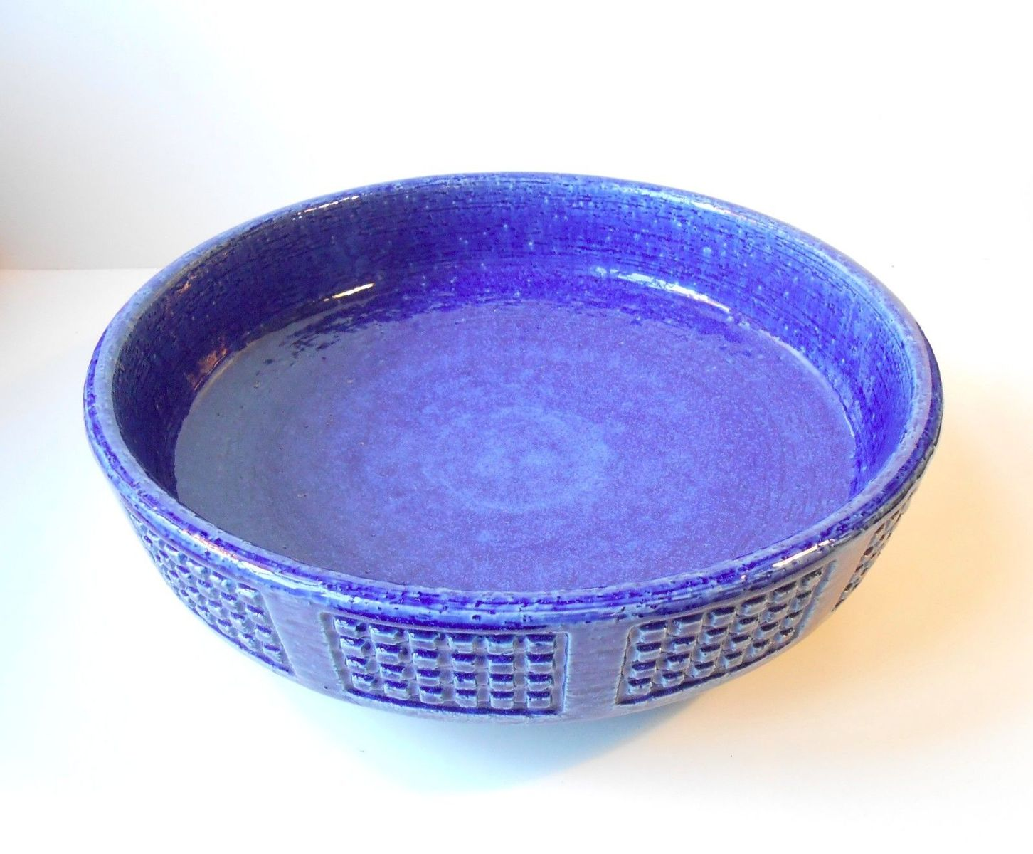 Blue centerpiece ceramic bowl by per linnemann schmidt for