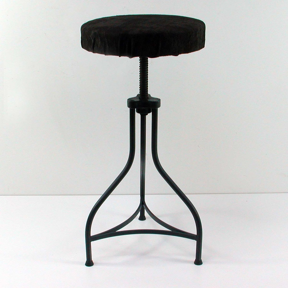 Price per piece & Vintage Industrial Work Stool with Deer Leather 1950s for sale at ... islam-shia.org