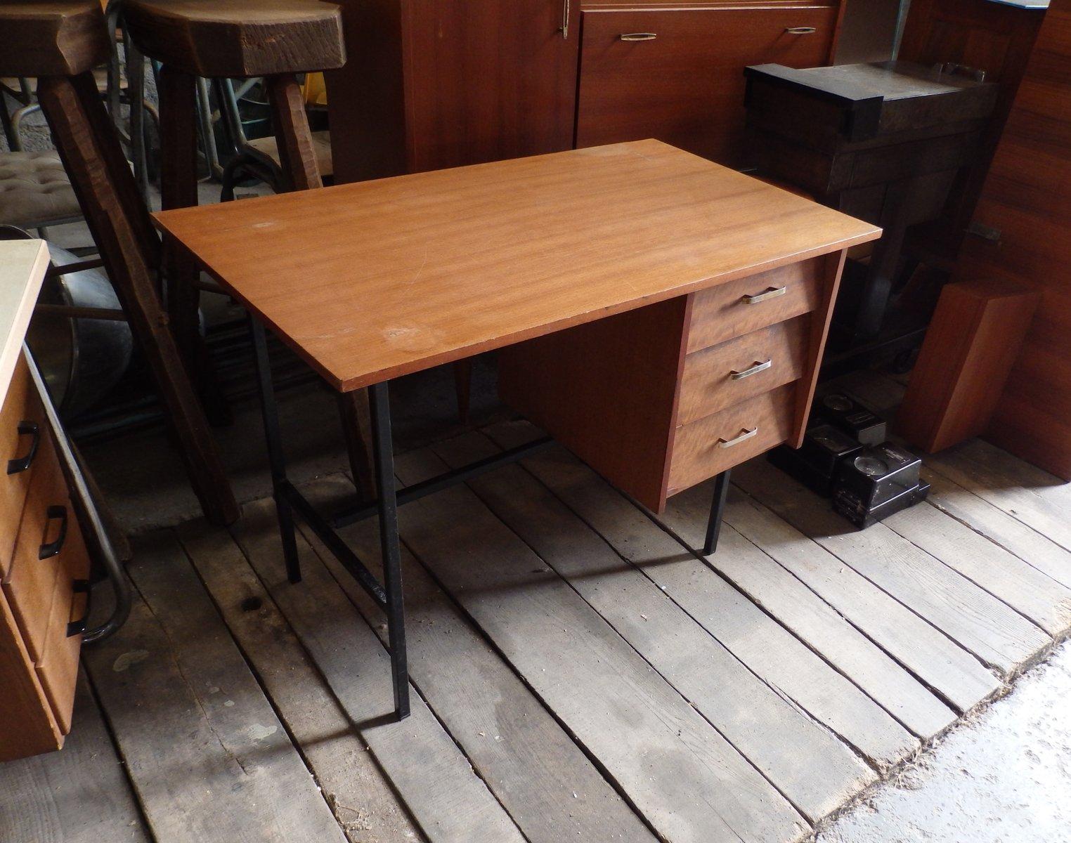 modernistischer schreibtisch mit drei schubladen bei pamono kaufen. Black Bedroom Furniture Sets. Home Design Ideas