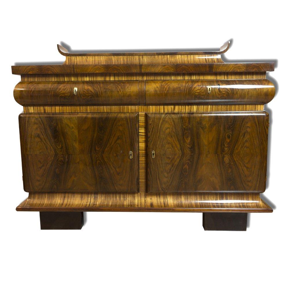 enfilade art d co en ch ne et en noyer france 1930s en vente sur pamono. Black Bedroom Furniture Sets. Home Design Ideas