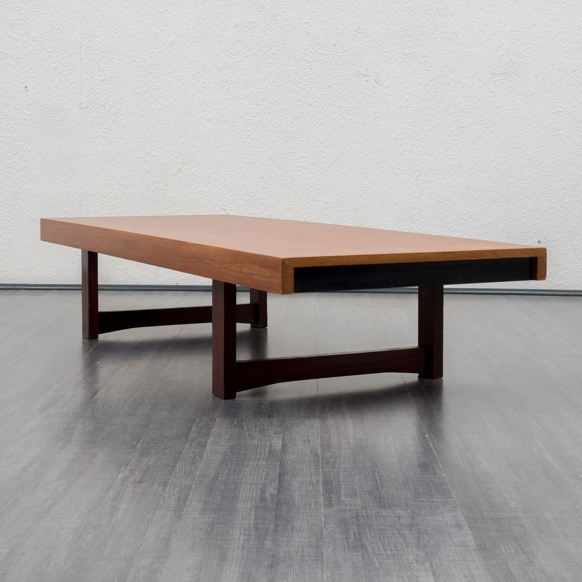 Low Teak Coffee Table, 1960s For Sale At Pamono