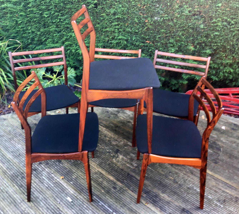 Rosewood Dining Chairs By H. Vestervig Eriksen For BRDR Tromberg, Set Of 6