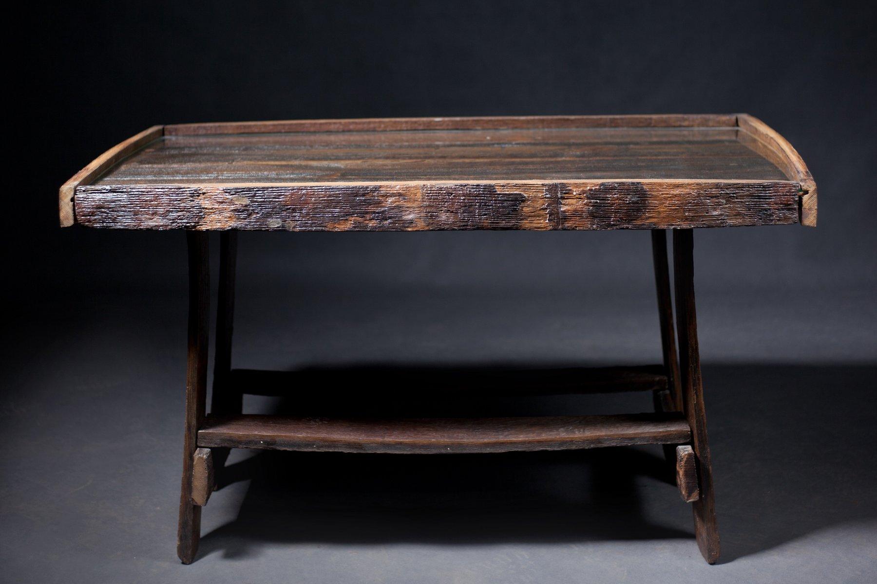 Vintage Oak Barrel Table for sale at Pamono