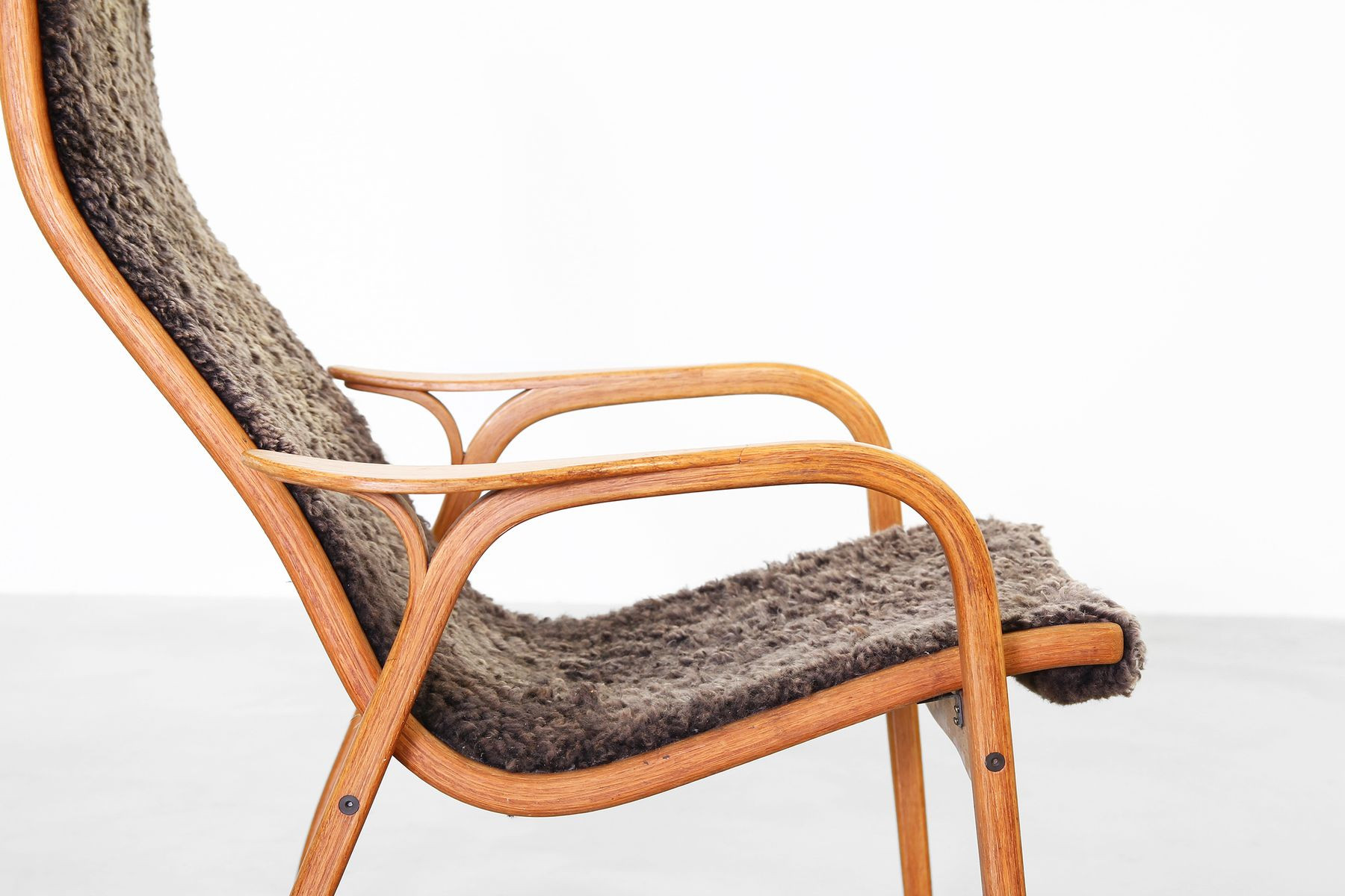 Vintage Swedish Lamino Lounge Chair by Yngve Ekström for Swedese Design, 1960s for sale at Pamono