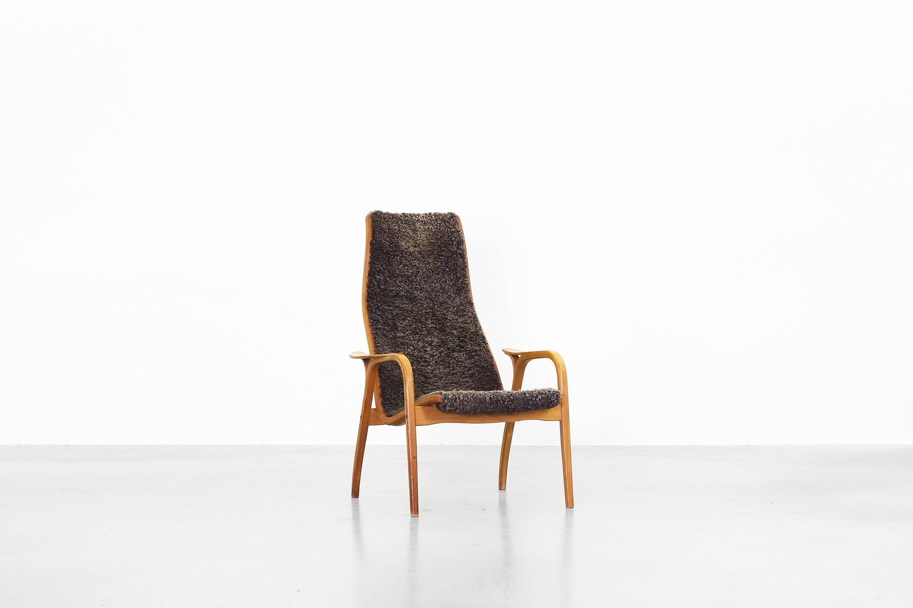 Vintage Swedish Lamino Lounge Chair by Yngve Ekström for Swedese Design, 1960s for sale at Pa