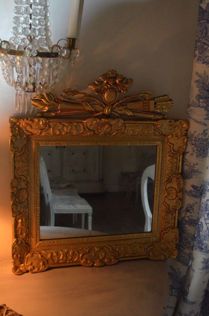 antiker schwedischer barock spiegel bei pamono kaufen. Black Bedroom Furniture Sets. Home Design Ideas