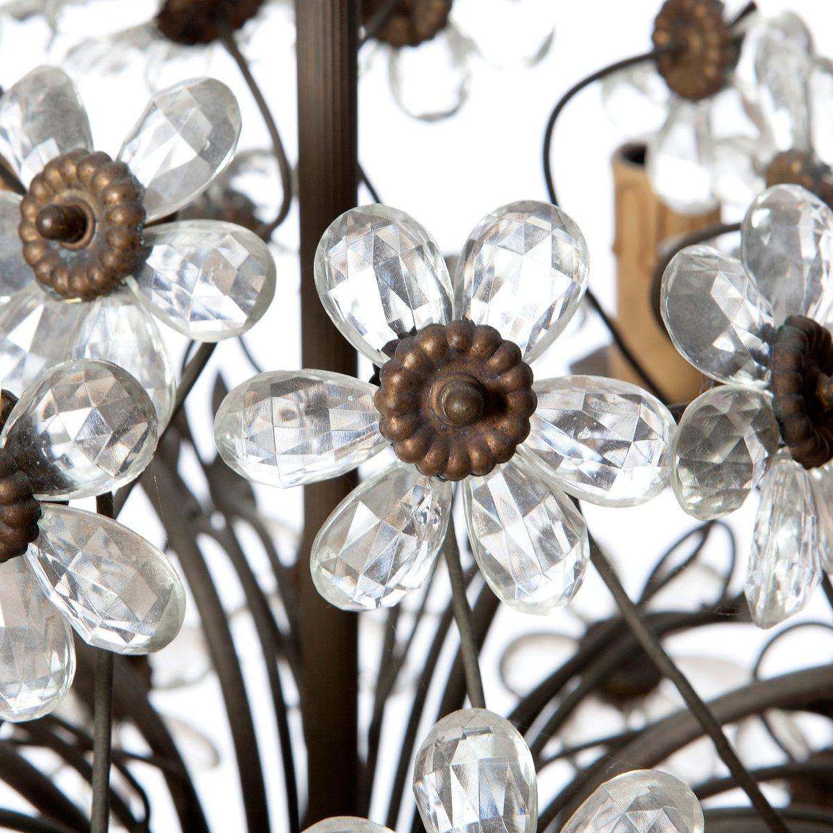lustre vintage en bronze en en cristal six branches de maison bagu s en vente sur pamono. Black Bedroom Furniture Sets. Home Design Ideas