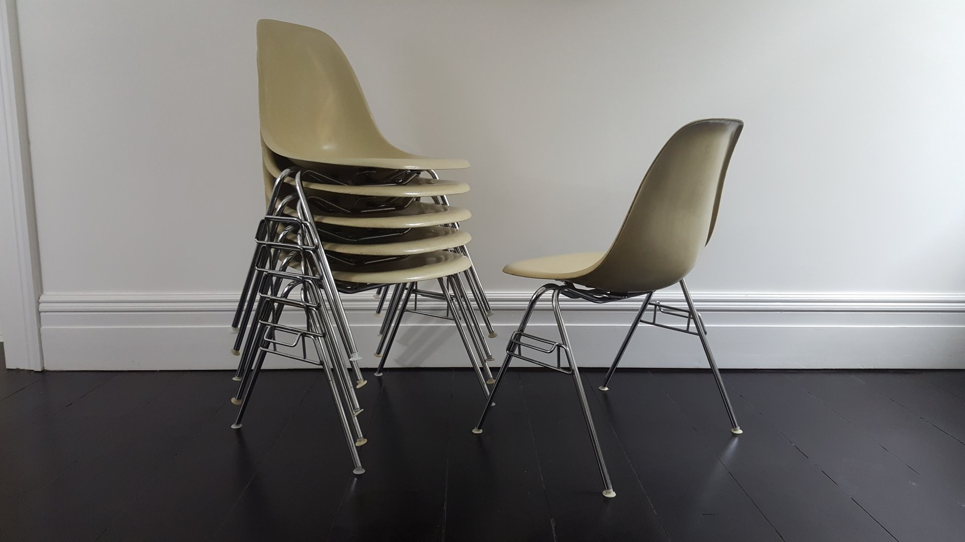 Vintage DSS Fiberglass Shell Chair By Charles U0026 Ray Eames For Herman Miller