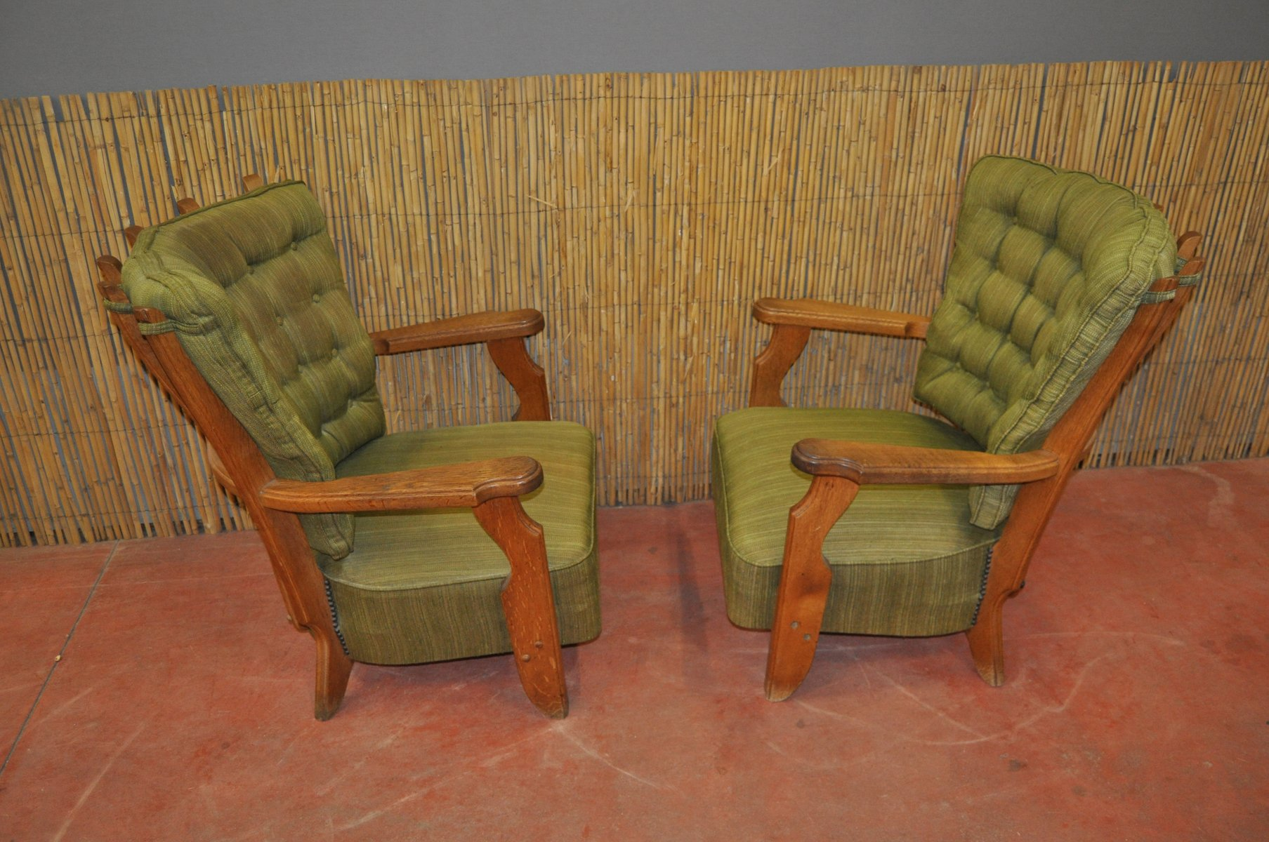 french armchairs by guillerme et chambron for votre maison 1950s set of 2 for sale at pamono. Black Bedroom Furniture Sets. Home Design Ideas