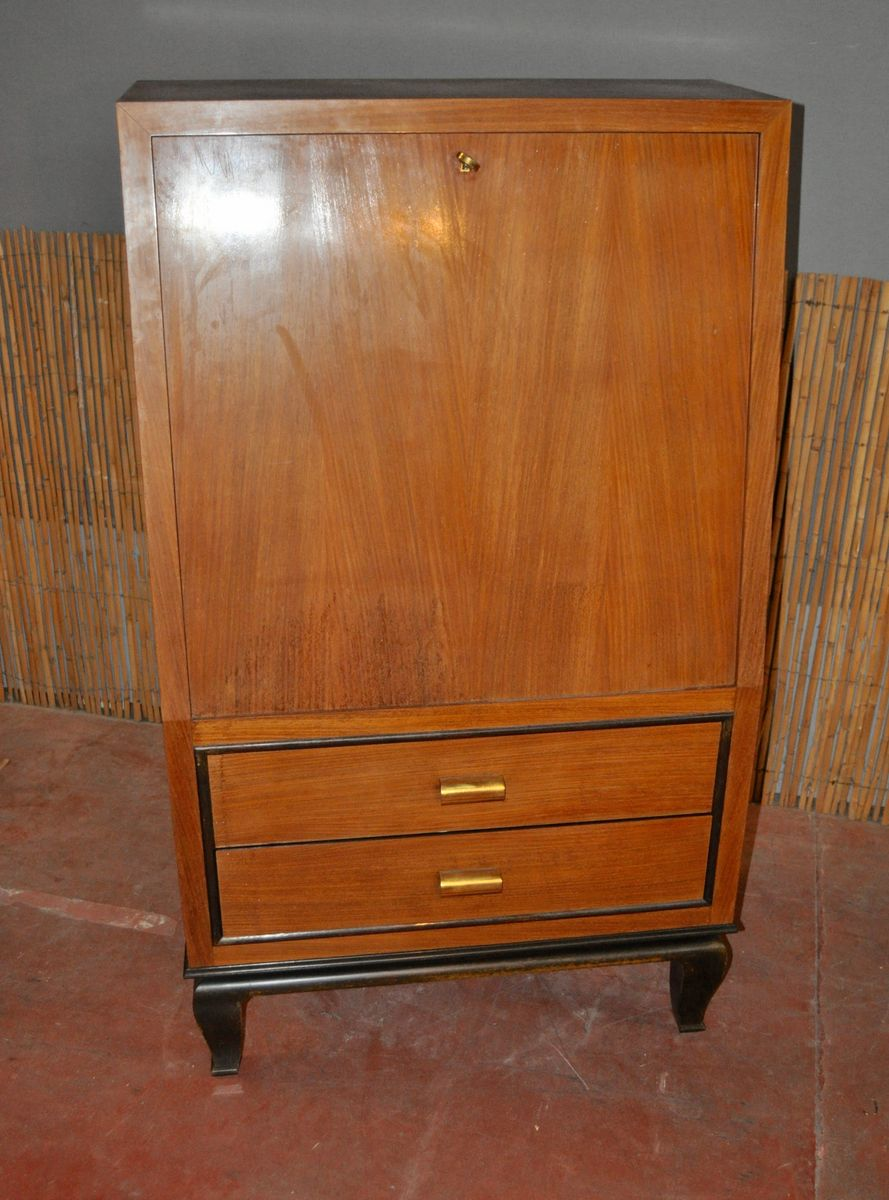 art deco wooden secretaire for sale at pamono. Black Bedroom Furniture Sets. Home Design Ideas