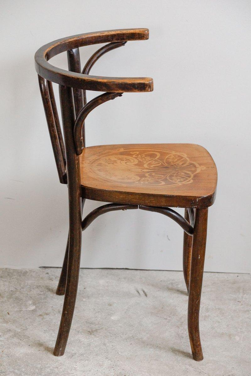 jugendstil bugholz stuhl mit gepr gter sitzfl che 1910er. Black Bedroom Furniture Sets. Home Design Ideas