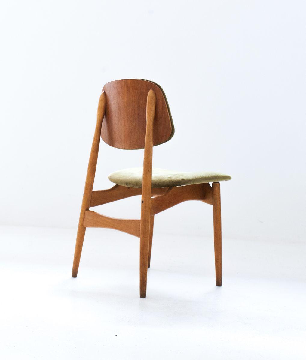 italienische st hle mit samtbezug von proserpio 1950er 6er set bei pamono kaufen. Black Bedroom Furniture Sets. Home Design Ideas