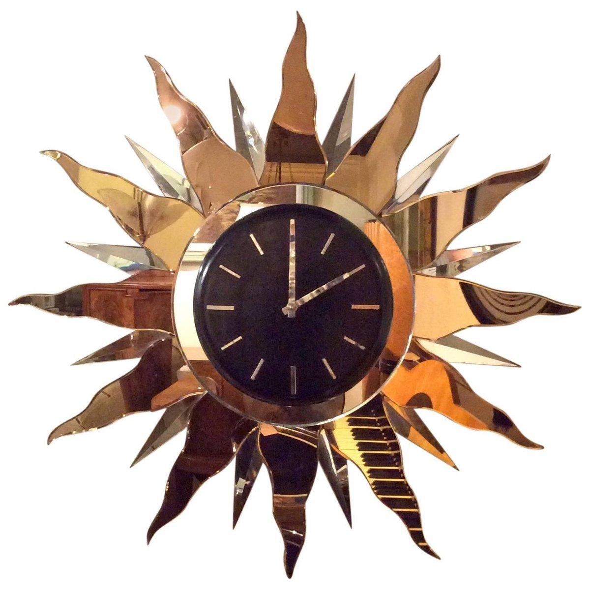 Large art deco wall clock 1930s for sale at pamono for Miroir art deco 1930