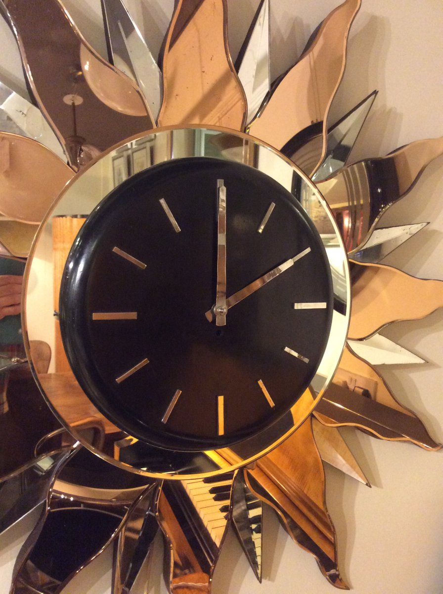 Large Art Deco Wall Clock 1930s For Sale At Pamono
